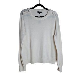 NWT J. Crew Sweater with Jeweled Buttons #AE990